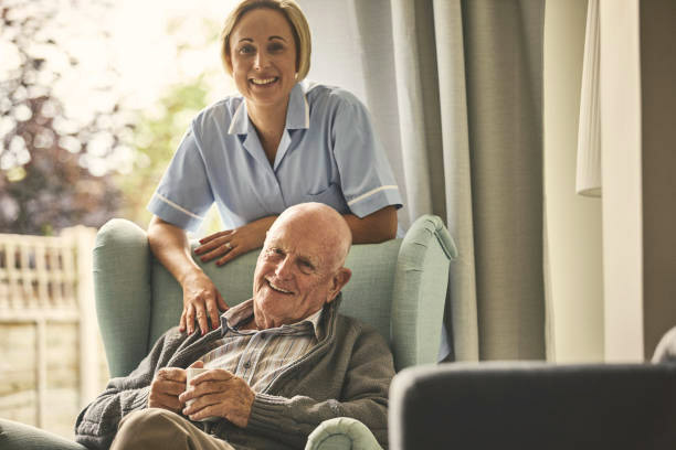 home carer with a patient
