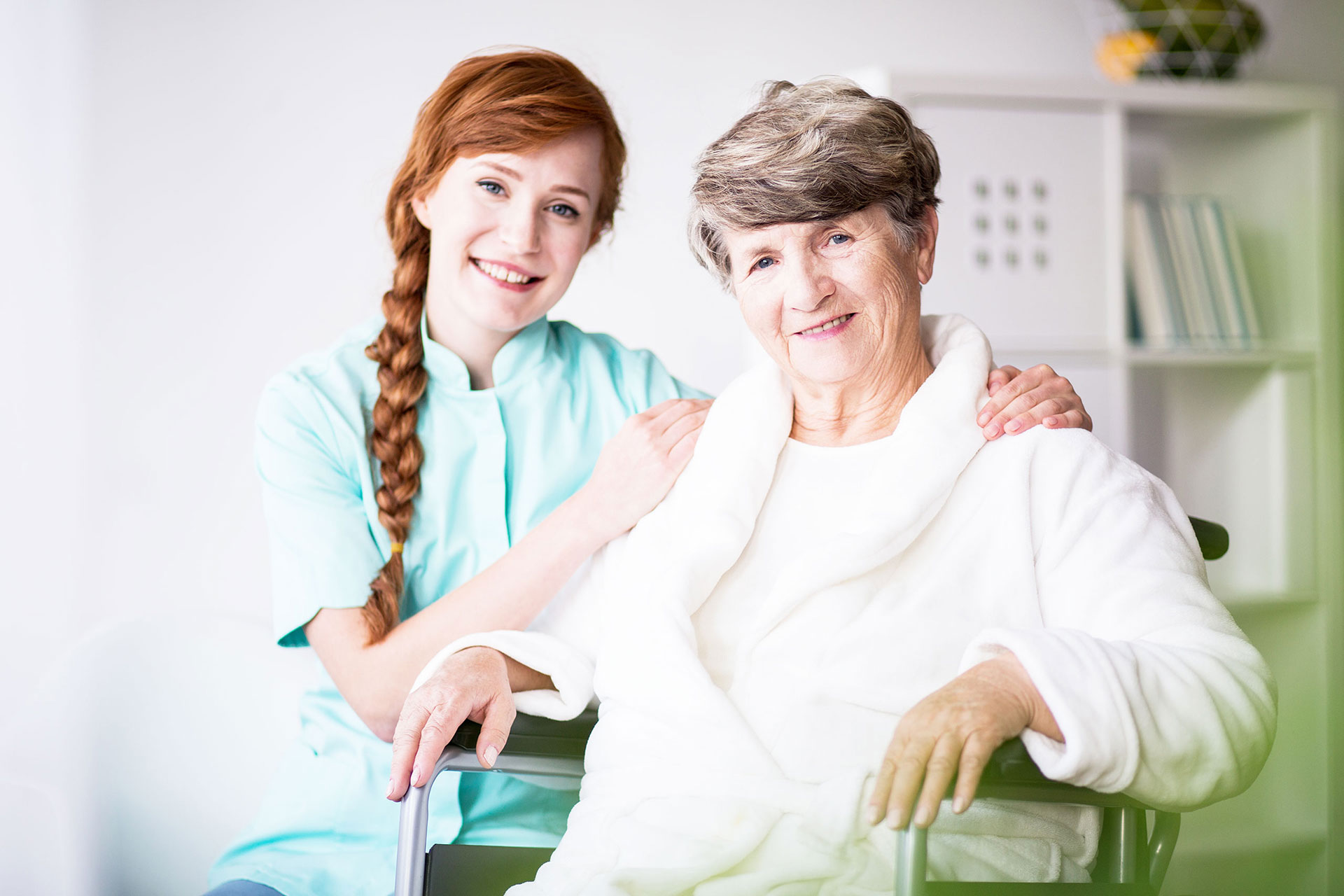home carer with elderly woman