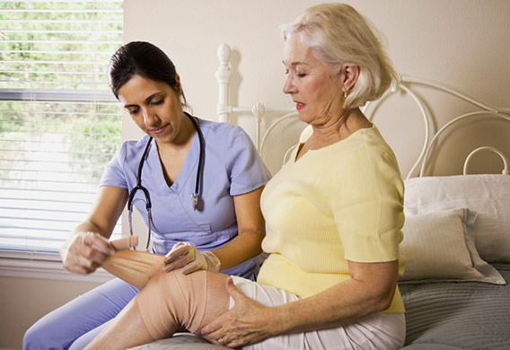 home carer with woman
